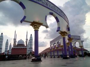 Senja di Masjid Agung Jawa Tengah