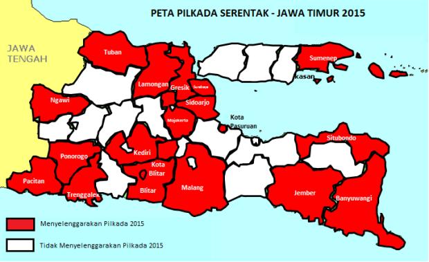 Peta Penyebaran Pilkada